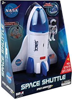 Daron NASA Space Adventure Series: Space Shuttle with Lights & Sounds & Figure, Approx 9