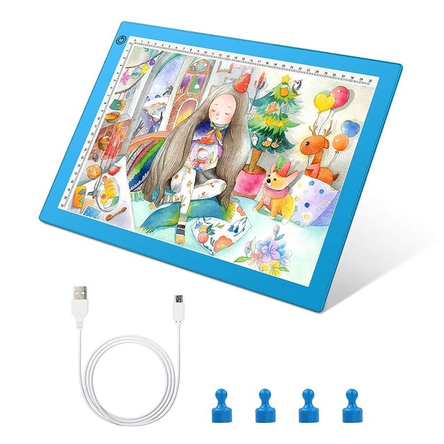 A4 LED Artcraft Tracing Light Box, JOYOOSS LED Light Box Ultra-Thin Portable Stepless Brightness Control LED Light Board Pad USB Power for Kids and Adults Artists,Drawing, Sketching, Animation