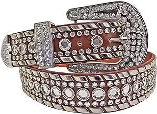 Luxury Divas Rhinestone Studded Western Belt For Women
