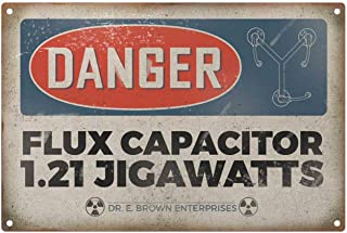 Dark Branches Personalized Danger Flux Capacitor Metal Sign, Retro Style Metal Sign Tin 8