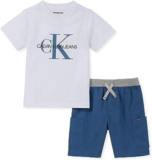 Calvin Klein 男孩 2 件短裤套装