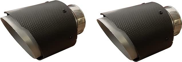 Auspuffblende Endrohr NBL1-90RS*//65 schwarz matt rund abgeschr/ägt 90mm Auspuff Sportauspuff Optik Blende Edelstahl Anschlu/ß 65mm