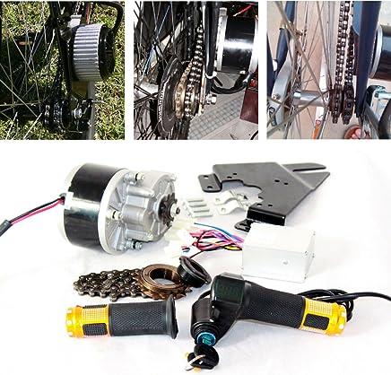 L-faster Motor eléctrico de Cepillo de 250 vatios para Bicicleta Acelerador eléctrico con Interruptor de Llave y Voltaje de batería Kit de Motor Simple para Bricolaje e-Bike