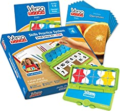 hand2mind VersaTiles Math an Engaging Puzzle Game Kit for Kids (Grade 3+) - Fractions, Multiply and Divide, and Geometric Measurement | 6 Student Activity Books and 1 Teacher Guide