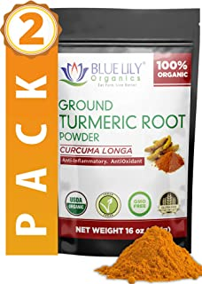 Ground Turmeric Root (Curcumin) Powder | 2 Pack - 2 lb (32 Oz) | Antioxidant & Anti-Inflammatory | Vegan, Non-GMO & Gluten Free