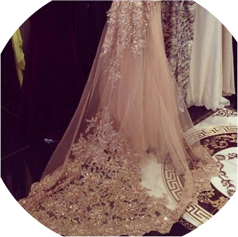 Wedding Accessory 3M Wedding Veil White Ivory Length Lace Edge Long Bridal Veil With Free Comb,Ivory