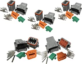 Lightronic DT Series 8 Pin Connector Kit 16-20 AWG Male and Female Auto Waterproof Electrical Wire Connector Plug 5 Set
