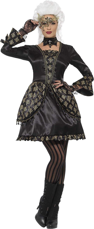 Smiffy's Women's Deluxe Masquerade Masquerade Masquerade Costume Black gold Small 51d489