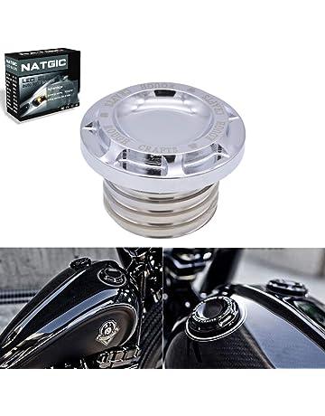 Softail Fat Boy Dyna YSMOTO filettatura destra per Har-ley 883 XL1200 48 72 colore: bianco e nero Tappo per serbatoio carburante per moto con corona CNC