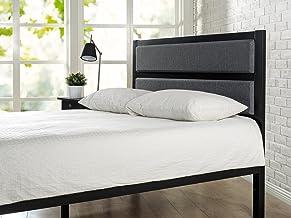 Zinus Jessica King Headboard | Upholstered Fabric Metal Bed Head, High Density Foam - Grey