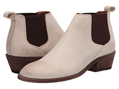 Frye Carson Chelsea (Ivory Nubuck Leather) Women