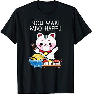 You Maki Miso Happy Sushi Love Japan Katze Süßes Kawaii T-
