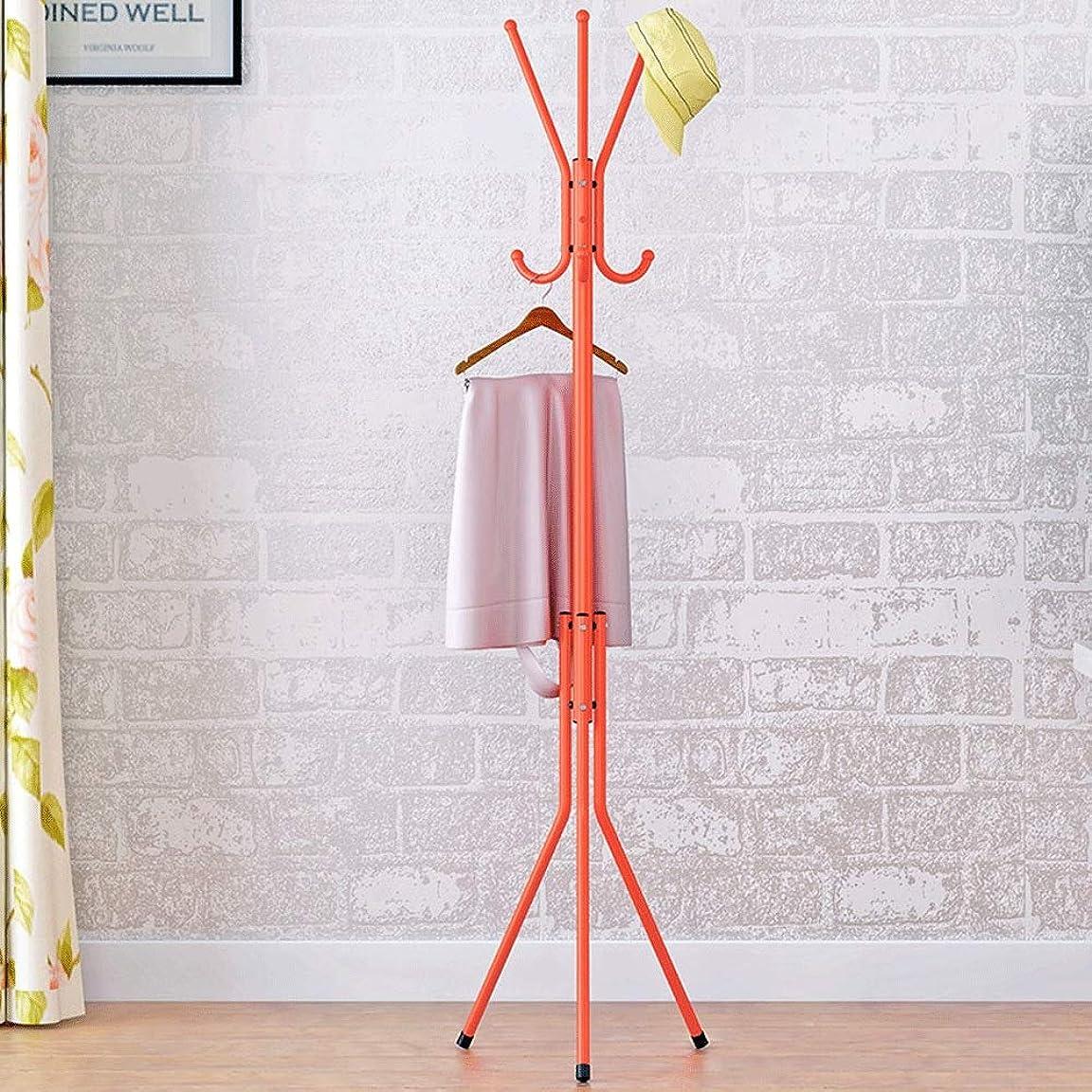 銛スクラッチ穏やかなコートラック コートラックコートツリーハットハンガーホルダー子供服用の複数のフックベースメタル付きツリースタンド 廊下の寝室のホームオフィスのため (Color : Orange, Size : 40×142cm)