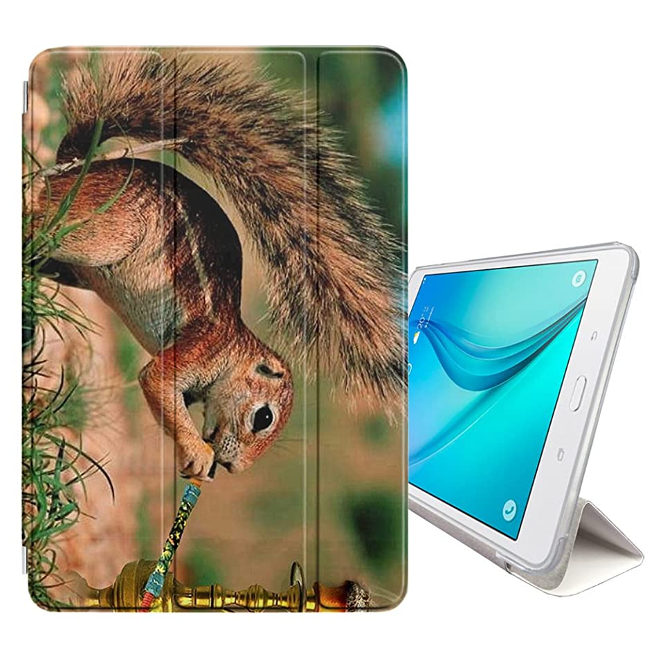 STPlus Squirrel Smoking Hookah Funny Smart Cover With Back Case + Auto Sleep/Wake Function + Stand for Samsung Galaxy Tab S3 - 9.7