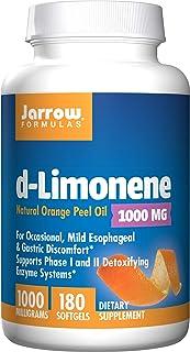 Jarrow Formulas D-Limonene Liver Detoxifying Enzyme Systems, 1000 mg Softgels 180 Count