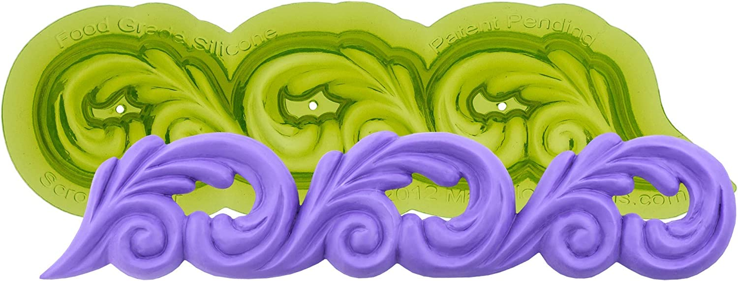 Marvelous Molds Scroll Silicone Decorati Mold Free Shipping OFFicial store Cheap Bargain Gift Cake Border