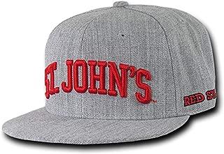 St John's University Redstorm NCAA Flat Bill Heather Gray Snapback Baseball Cap Hat