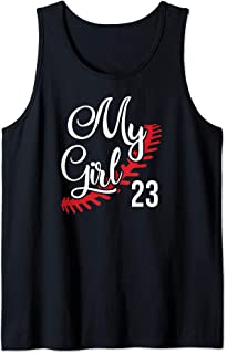 My Girl 23 Fastpitch Softball Mom Jersey Number Tank Top