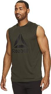 Reebok Camiseta de tirantes para hombre, sin mangas, para entrenamiento y entrenamiento
