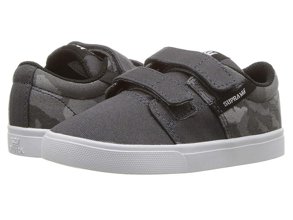 Supra Kids Stacks Vulc II V (Toddler) (Dark Grey/Camo/White) Boys Shoes