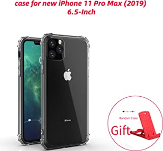Phone Case for Apple iPhone 11 Pro Max, 6.5-Inch, Shock-Absorption Bumper Cover, Anti-Scratch Clear Back (Gray, 6.5)