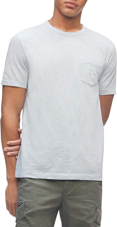Calvin Klein Men's Max 45% OFF Short Sleeve Casual Logo Over item handling ☆ T-Sh Monogram Pocket