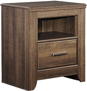 Ashley Furniture Signature Design - Juararo Nightstand - 1 Drawer - Casual - Dark Brown