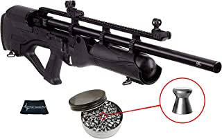 Hatsan Hercules Bully .25 Caliber PCP Air Rifle with Included Pack of 150 Pellets Bundle (Pellets Caliber/Weight .25/24.38 Grains) and Wearable4U Cloth