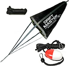 Mythik Lures Drift Master - Drift Sock and Anchor Harness Kit (Collapsing Cord Included) - for Lake River Ocean Anchoring or Trolling Bag