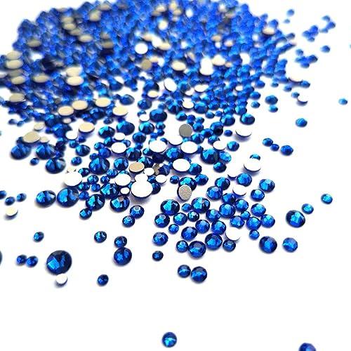 b6b3d9768879 Mix 6 Size Dark Blue Rhinestones Nail Crystals for Nail Art Flatback  1.5mm-4mm