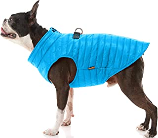 Gooby Puffer Dog Vest - Blue, X-Small - Ultra Thin Water Resistant Zip Up Dog Jacket with D Ring Leash - Small Dog Sweater...
