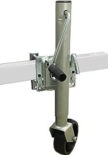 MAXXHAUL 70148 10 Lift Swing Back Trailer Jack with Single Wheel-1000 lbs. Capacity