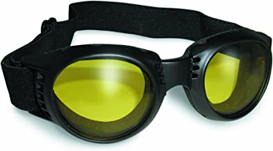Paragon Motorcycle Goggles Yellow Tinted Lenses, Frames Will Accommodate Prescription Lenses, Soft Airy Foam for Comfort, Adjustable Vents.