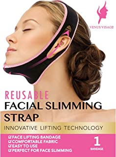 Facial Slimming Strap, Pain-Free Face Lifting Belt, Double Chin Reducer, V Line Lifting Chin Strap for Women Men Eliminates Sagging Skin Lifting Firming Anti Aging (Red)