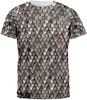 Steel Scale Armor Costume All Over Adult T-Shirt