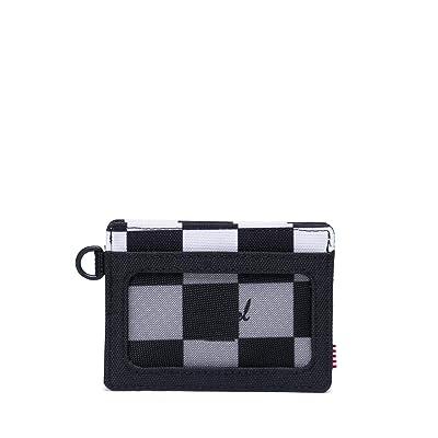 Herschel Supply Co. Charlie ID RFID (Checker Black/White/Black) Wallet Handbags
