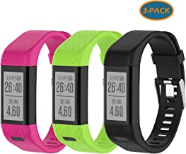 Compatible with Garmin Vivosmart HR+ Bands Women Men, Replacement Silicone Wristbands Band Straps Bracelet for Vivosmart HR Plus, Approach X10, X40 (Pink Green Black)