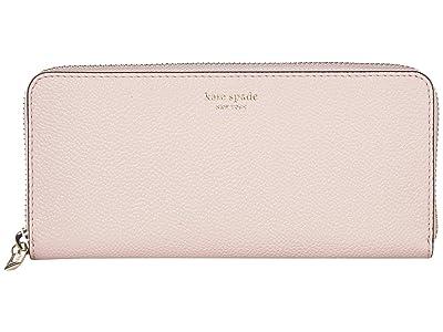 Kate Spade New York Margaux Slim Continental Wallet (Tutu Pink) Wallet Handbags