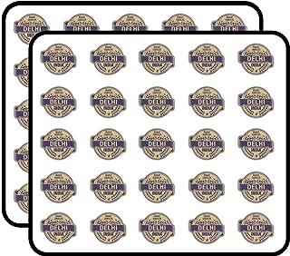 Delhi City India Grunge Travel Stamp Sticker for Scrapbooking, Calendars, Arts, Kids DIY Crafts, Album, Bullet Journals 50 Pack