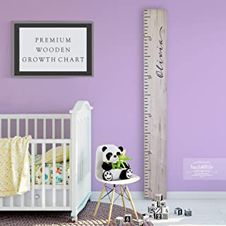 Wooden Kids Growth Chart Ruler for Boys and Girls Painted or Engraved (Loved Beyond Measure - Personalized) Back40Life