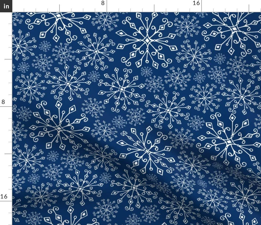 Snowflake Winter Snow Christmas Holidays Santa Spoonflower Fabric by the Yard