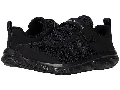Under Armour Kids UA Assert 8 AC (Little Kid) (Black/Black/Black) Kids Shoes