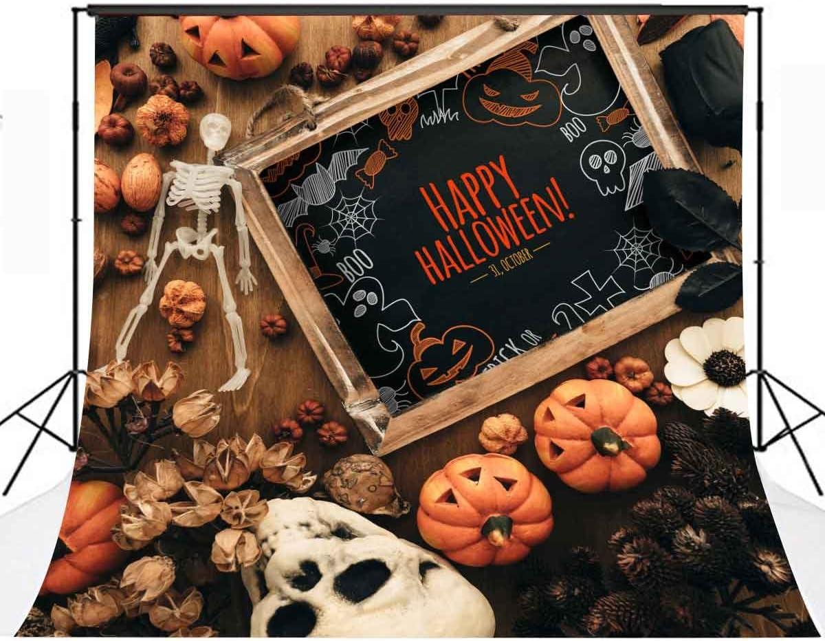 Lylycty 10×10ft Over item handling Halloween Backdrop Skeleton Phoenix Mall Pumpkin Lanterns Hal