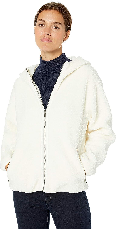 Amazon Brand - Daily Ritual Women's Teddy Bear Fleece Hooded Zip Jacket