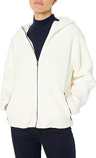 Marca Amazon - Daily Ritual Teddy Bear Hooded Zip Jacket Mujer