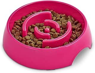 HARMONY Pink Plastic Slow Feeder Dog Bowl