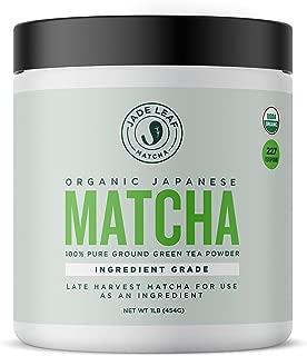 Jade Leaf - Organic Japanese Matcha Green Tea Powder, Ingredient Grade - [1lb Bulk Size]