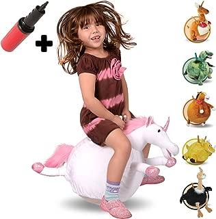 WALIKI Unicorn Hopper Ball for Kids 3-5   Hippity Hop   Jumping Hopping Ball   Sit & Bounce   18