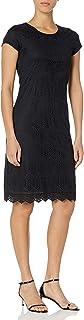 Downeast Women's Short Sleeve Lace Peaceful Dress
