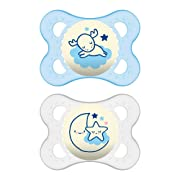 MAM Air Pacifiers (2 pack), MAM Sensitive Skin Pacifier 6+ Months, Best Pacifier for Breastfed Babies, Baby Boy Pacifiers